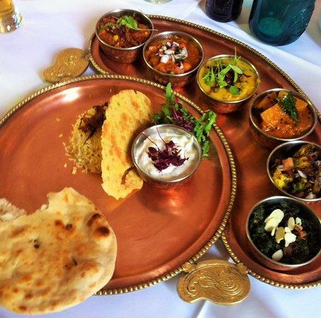 Indian Zest: Vegetable Thali