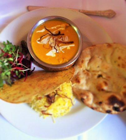 Indian Zest: Saffron Chicken Korma