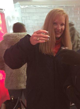 Icebar Orlando: Cinnamon whiskey shot to warm up at the icebar