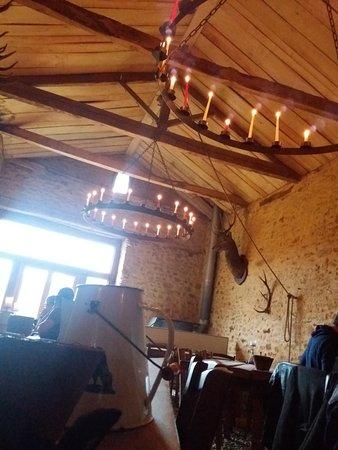 Villefranche-du-Perigord, Francia: éclairage à la bougie