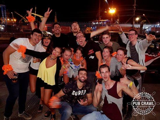Second party #PiscoSour #LatinMusic #Rooftop #PartyTour #Pubcrawl #PubcrawlValparaiso #PubCrawlC