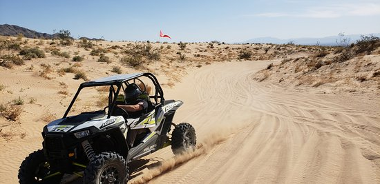 North Las Vegas, NV: Riding through the dunes