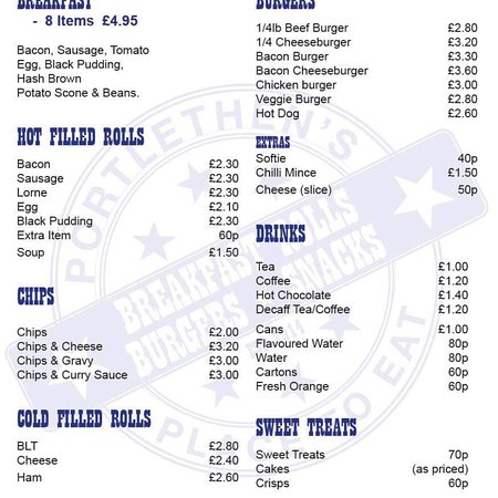 Portlethen's Place To Eat