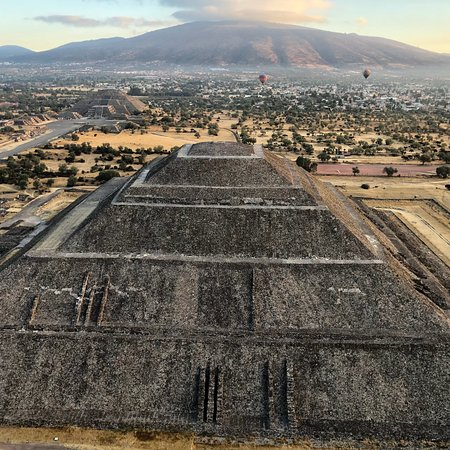 Magical morning over pyramids