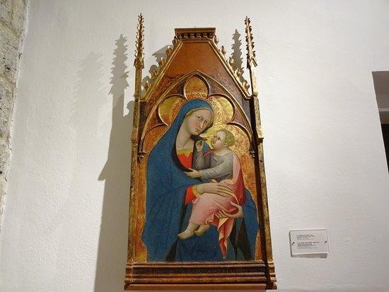Casole d'Elsa, Italy: Madonna della Rosa - Bartolo di Fredi