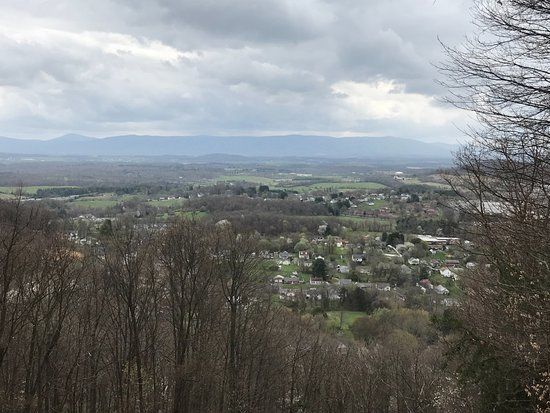 Staunton, VA: View from the top of Betsy Bell. You can drive, hike or bike to the top.