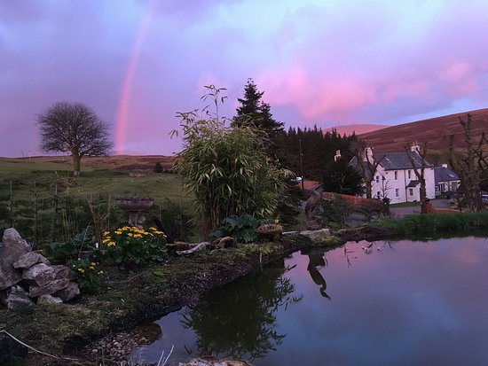 Wanlockhead, UK: Beautiful sunset and rainbow