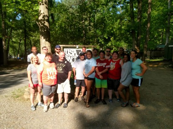 Erwin, TN : Our whitewater rafting crew.