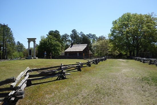 """Bennett Place Historic Site: Another angle showing the 1860's """"super highway"""" that is in between the two fence lines."""