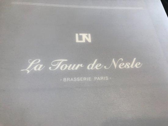 La Tour de Nesle: menu cover