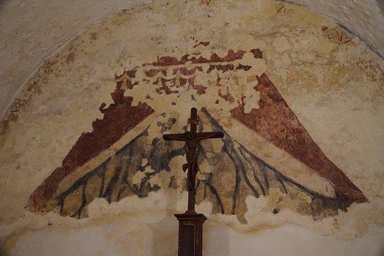 old wall painting サンアントニオ mission concepcionの写真