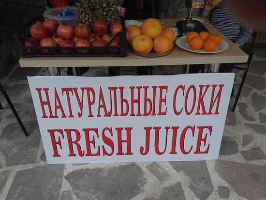 Samtskhe-Javakheti Region, جورجيا: You can drink Natural fruit juice
