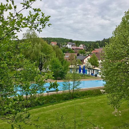 Etzelwang, Germany: View from outside the pool.