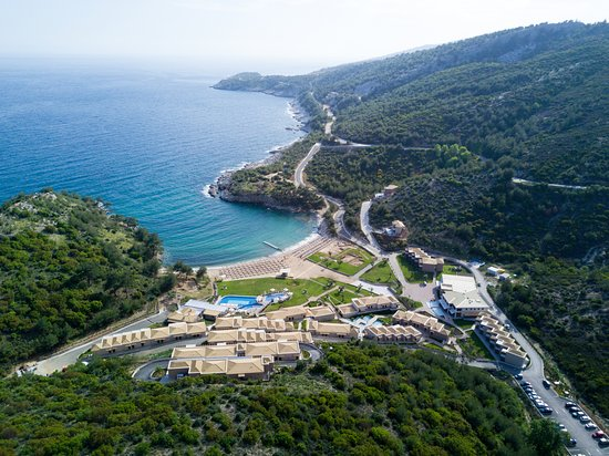 Aliki, Yunanistan: Drone view of Thassos Grand Resort
