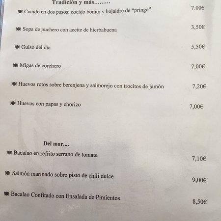 Benaocaz, Spain: Le menu 2018. Ça vaut le détour !!