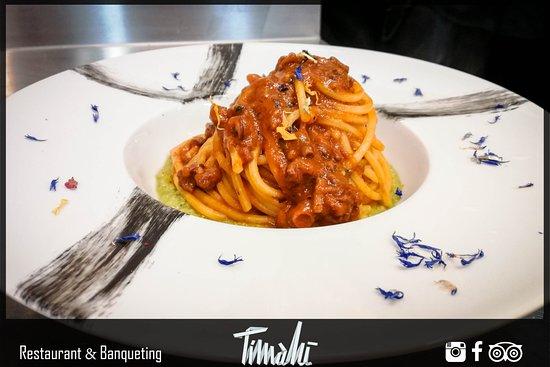 Torregrotta, إيطاليا: Spaghetti quadri con ragù di polpo
