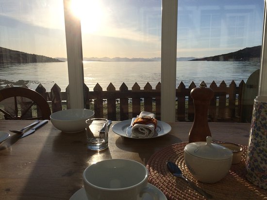 Isle of Rum, UK: spellbinding view from the dining table