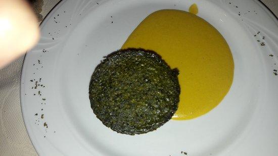 Province of Cuneo, Italy: Sformato di verdure con salsa di fiori di zucchine