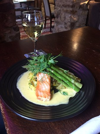 Salmon & Asparagus at The Star Inn
