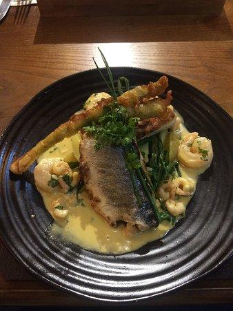 Sea Bass, Hake, Prawns & Tempura Vegetables