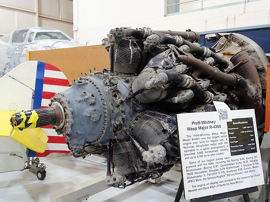 pratt-whitney wasp major R-4360 engine - Picture of The