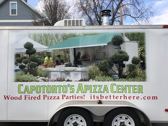 Capotortos Apizza Center We Have A Wood Fired Pizza Trailer Your Guests Won