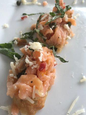 Salmon Bruschetta - Delicious