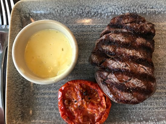 Brasserie Blanc - Fulham Reach: Steak with Bernaise sauce