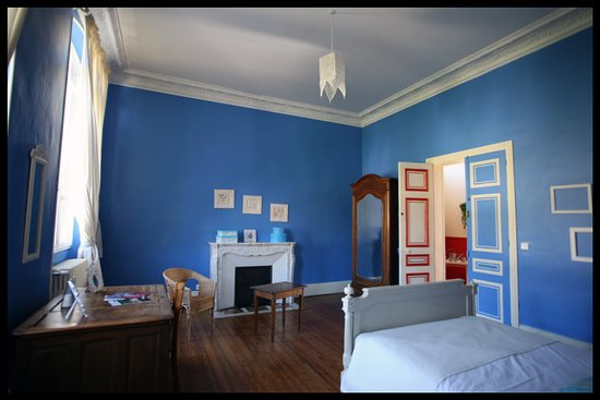 Septmonts, France: chambre bleue