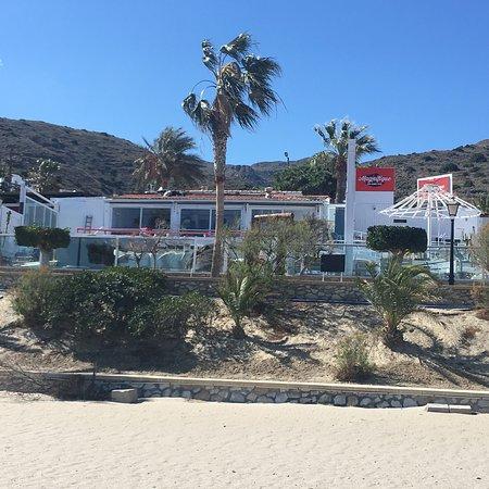 Mojacar Playa, สเปน: Vue d'un bateau sur mer