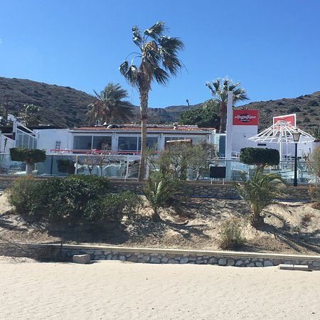 Mojacar Playa, Ισπανία: Vue d'un bateau sur mer