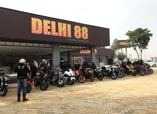 Haryana, Indien: Bikers Sunday Meet