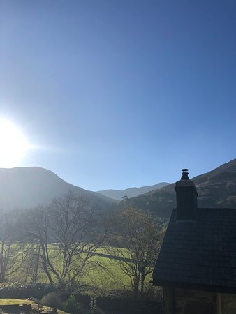 Nant Gwynant, UK: View from the terrace