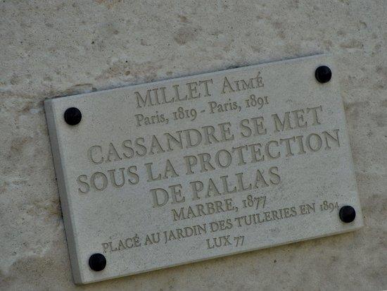 Statue Cassandre se mettant sous la protection de Pallas