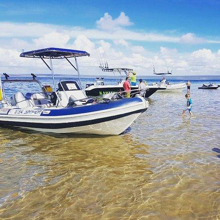 Inhambane, Mozambique: Vista do mar