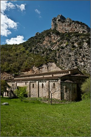 Province of Huesca, Spain: The monastery, the main building...