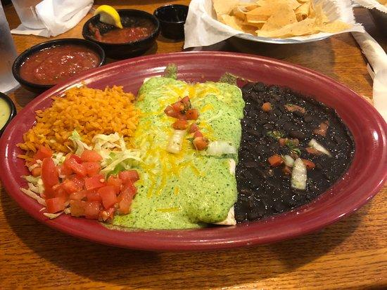 Fronteras Mexican Restaurant & Cantina: Cream cheese enchiladas with jalapeño cream sauce