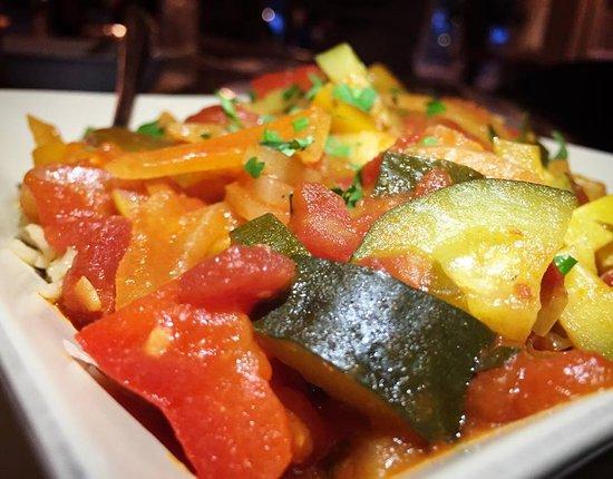 Clarks Summit, PA: Ratatouille (vegan) Seasonal Vegetables, over Basmati Rice in tomato sauce