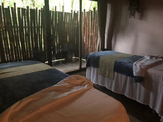 Bajos del Toro, Costa Rica: This was our treatment room for our massage appointment