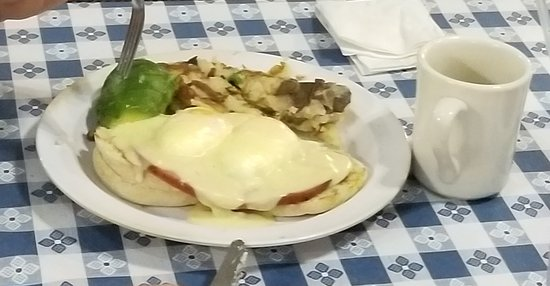 Banning, CA: Eggs Benedict with avocado