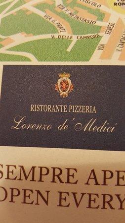 Ristorante Lorenzo de' Medici: Foi aqui mesmo