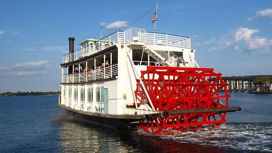 Cocoa, FL: The Indian River Queen Paddle Wheel Riverboat. Available for private charter & public cruises