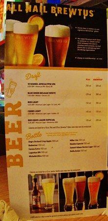 เกรชัม, ออริกอน: Drink menu