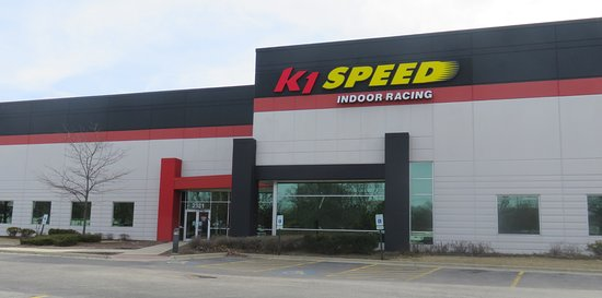 entrance to K1 Speed in Addison