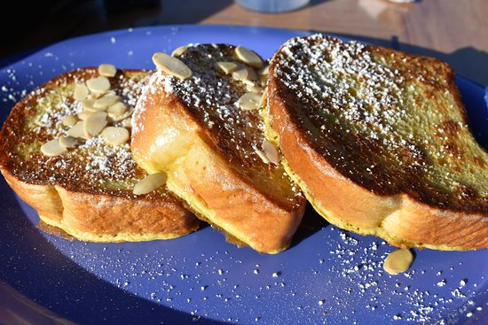 Toasted almond french toast at Maggie Mae's Sunrise Cafe