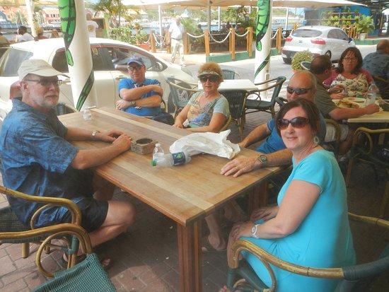 Outdoor Patio, Iguana Cafe. Willemstad, Curacao