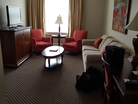 University, MS: the sitting room of the suite.