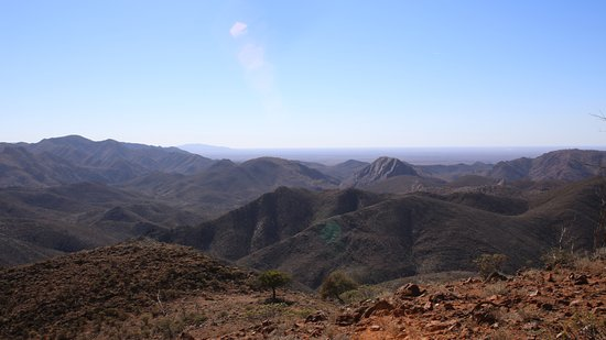 Arkaroola, Australia: Part of the panoramic view from the top of the Acacia Ridge Trail