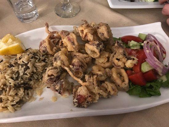 ΓΚΡΑΝ ΑΛΑΝΤΙΝΟ: Gluten free Squid with beautiful rice