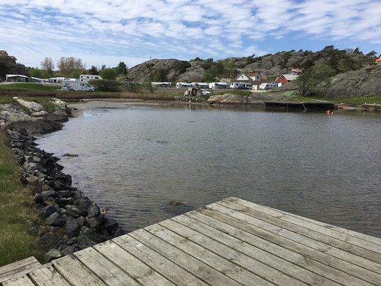 Ellos, Suecia: Campingen sett från bryggan